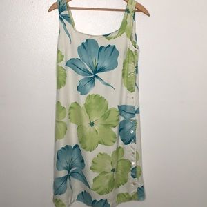Tommy Bahama 100% Silk Floral Tank Dress Sz8